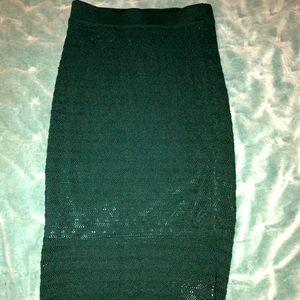 Forest green Bebe Midi skirt